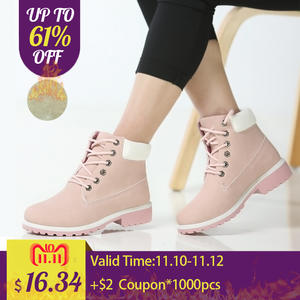 b7fec74a67f2 Fujin Platform Women Ankle Boots Boots female lady shoes