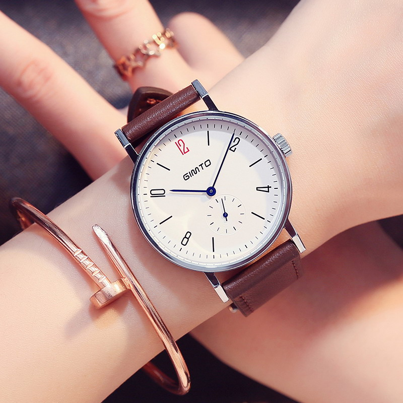 2017 Brand Fashion Ladies Watch Quartz Analog Women Watch Casual Leather Strap Student Girl Dress Simple