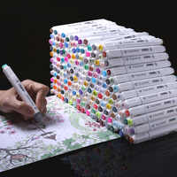 Original 20/30/40/60/80/168 cor arte marcadores definir dupla cabeça artista esboço álcool oleoso à base de marcadores para animação manga