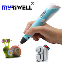 Hot 3d printer Pen with Screen 3D Drawing Pen for 3D Painting for Birthday and Christmas Gift 3D pen RP-100B with PLA Filament