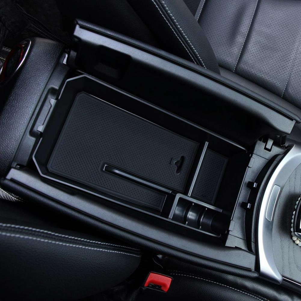 Car Central Armrest Storage Box Container Holder for <font><b>Mercedes</b></font> Benz C GLC Class W205 C180 C200 <font><b>C300</b></font> GLC200 Car Tray Car Styling image