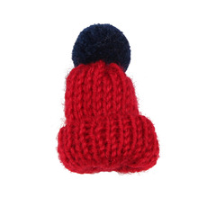 Fashion Knitted Pom Pom Hat Brooch Pin Women Christmas Dress Scarf Accessories Hijab Scarf Broches Coat