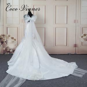 Image 4 - エレガントなサテンヴィンテージ人魚のウェディングドレス 2020 ロングラップ純白のレースの刺繍アフリカマーメイドウェディングドレス W0216