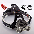 Cree T6 Led Frontal Flash Light Headlamp High Bright Headlight Lamps 4000 Lumens Head Light With 18650 Battery + Ac Charger