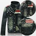 2015 Новый США Дизайн Мужские Джинсы Куртки Американская Армия Стиль мужские Джинсы Одежда Джинсовая Куртка для Мужчин Плюс Размер XXXXL