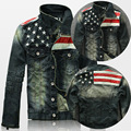 2015 New USA Design Mens Jeans Jackets American Army Style Man's Jeans Clothing Denim Jacket for Men Plus Size XXXXL