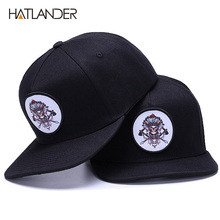 HATLANDER Original bone baseball cap snapback hip hop hats men women sun gorras high quality fitted flat bill