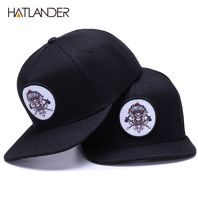 HATLANDER Original bone baseball cap snapback hip hop hats men women sun cap gorras high quality fitted flat bill snapback cap