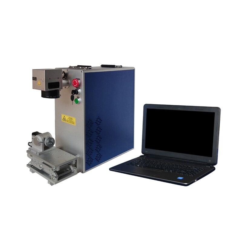Купить с кэшбэком Free Shipping 30W Split Desktop Fiber Laser Marking Machine Price for Stainless Steel Metal Blade Marking Jewelry Laser Marking