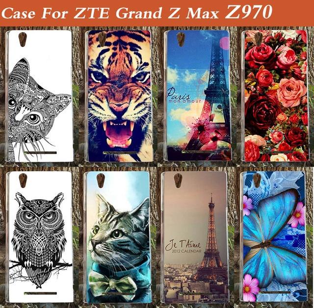 New Pattern Case Model Hard Back Cover for ZTE Grand Z Z970 Free Shipping For ZTE Z970 Case Phone Back Cover
