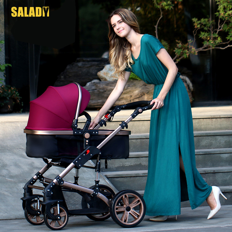Sally Di Sld Baby Stroller High Landscape Can Sit And Lie Light Shock Proof Foldable Two-way Four Wheel Hand Tong