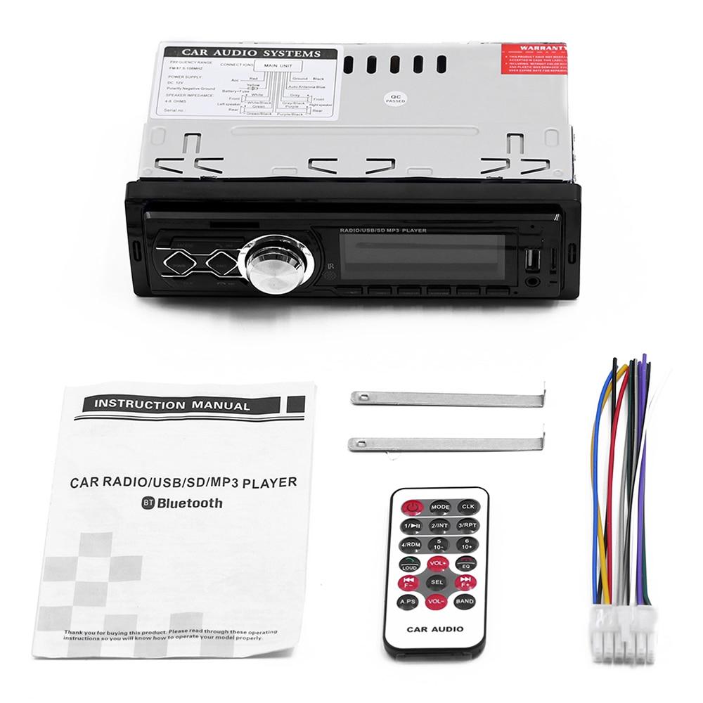 1 Din Car Radio 12v Car Modified Retro Style Bluetooth Fm Car Radio