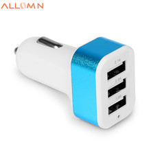 Universal 3 Port USB Car Charger DC 12-24V 5V 1A/2A/2.1A Vehicle Charger for iPhone 6 6S plus iPad Samsung Galaxy S6 S7 Tablet