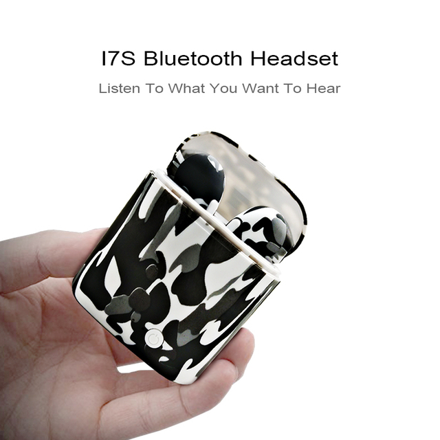 WPAIER I7S TWS Bluetooth Headphones colorful Portable Wireless Earphones With Charging Box mini bluetooth headsets Color pattern