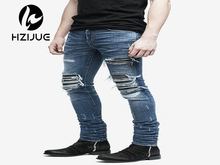 New 2016 Original Design Hole Pants Jogger Pants Brand High Quality Jeans Luxury Man Casual Street Straight Hip Hop