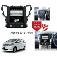 12.1 Tesla Type Android Fit TOYOTA Alphard 2015 2019 AH30 Car DVD Player Navigation GPS Radio
