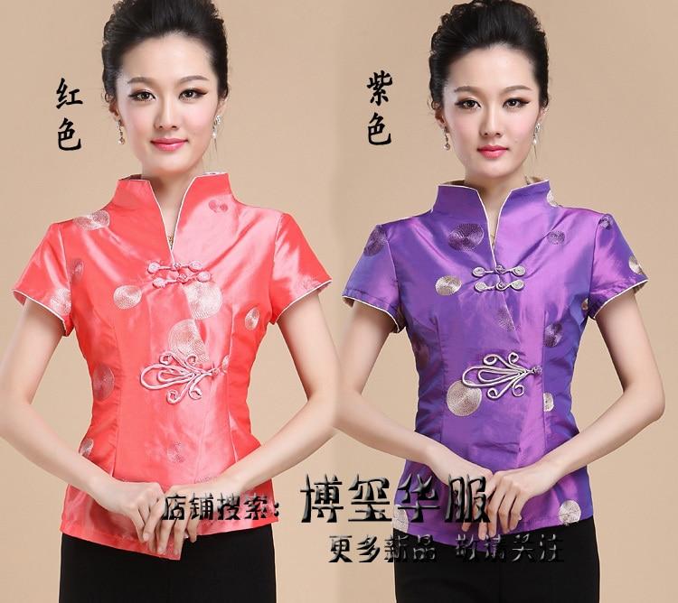 Nouvelle 1 color Arrivée Color 3xl Gratuite M Style 2 De L Livraison Xxl Chemise Tradition Fleur Tops Xl Chinois Femmes Blouse Hgwxq