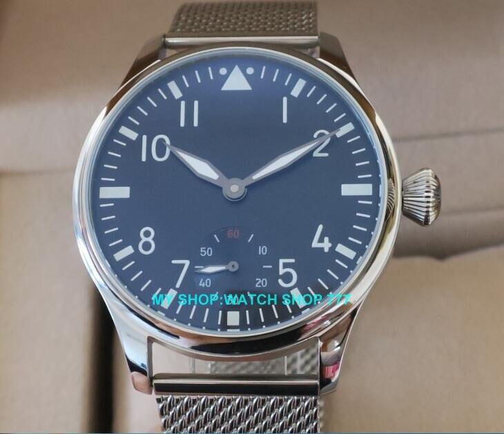 44mm PARNIS 6498/ST3621 Mechanische Hand Wind herren uhr Hohe qualität leucht Mechanische Armbanduhren-in Mechanische Uhren aus Uhren bei  Gruppe 2