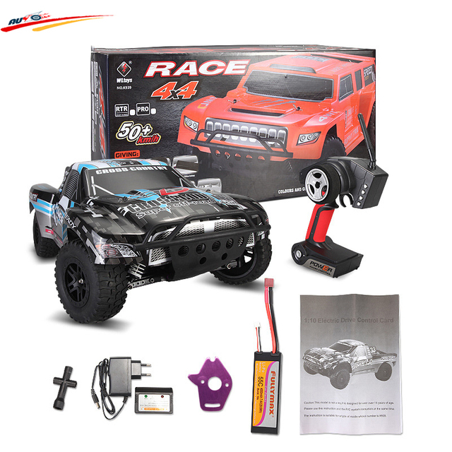 Coche de competición del rc wltoys k939 1/10 4wd 2.4g rc rtr del curso corto de alta velocidad eléctrica coche de control remoto toys cochecillo del carro