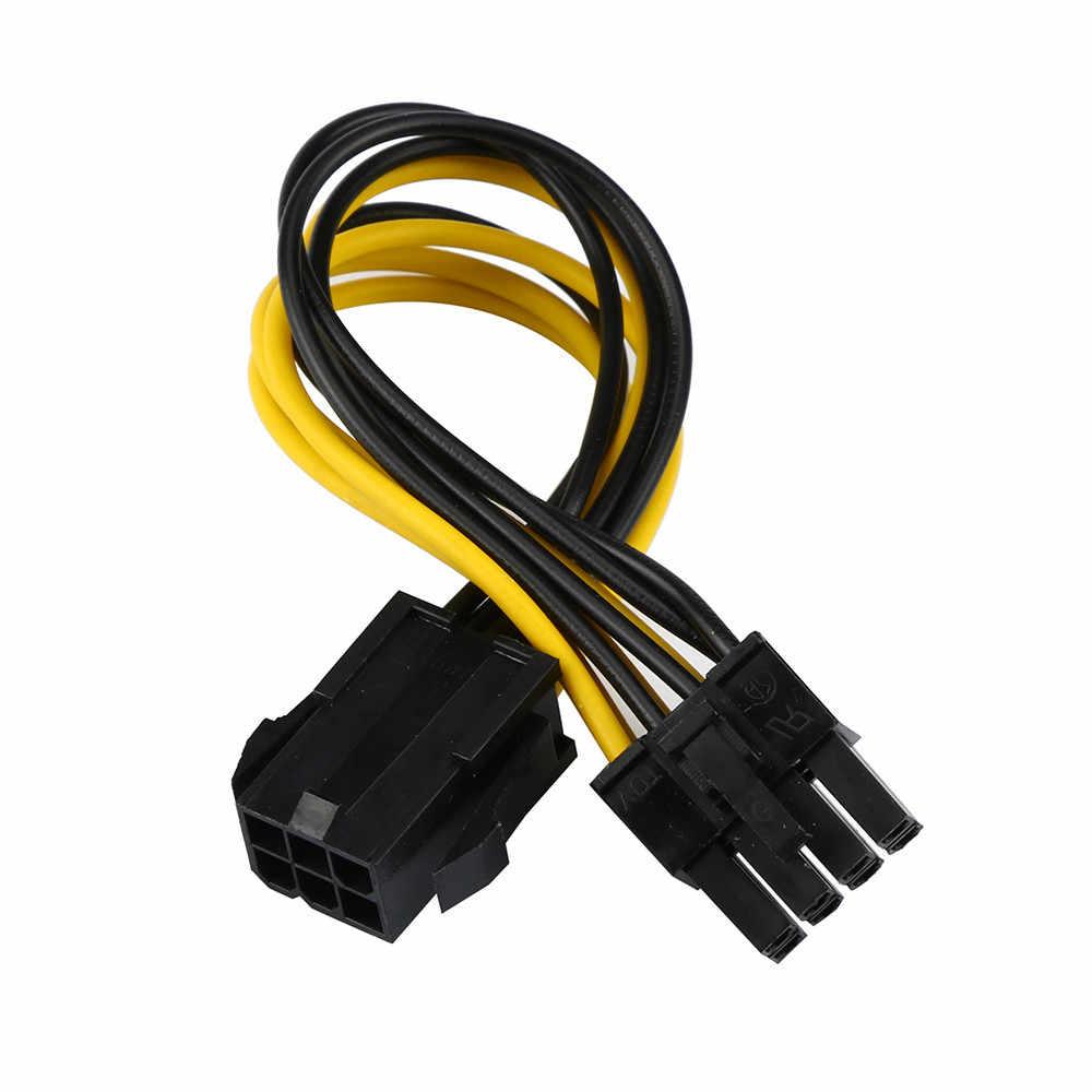 6-pin ถึง 8-pin PCI Express Converter สำหรับ GPU การ์ด PCIE PCI-E 18 ซม. 18 AWG สำหรับการ์ด 2018