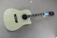 Free shipping Top quality Solid spruce Top J 185EC Acoustic Guitar natural wooden acoustic guitar 15 9
