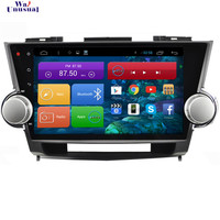 WANUSUAL 10.2'' Quad Core Android 6.0 GPS Navigation for Toyota Highlander 2009 2010 2011 2012 2013 2014 With BT Wifi 1024*600