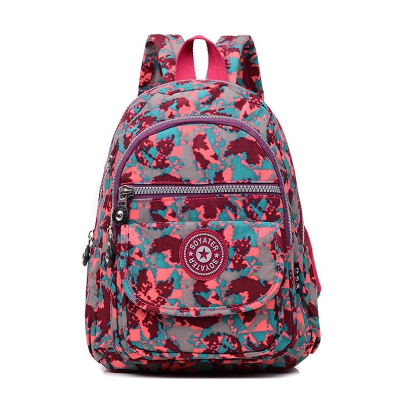 Female Backpack Women School Backpack For Teenage Girls Mochila Feminina Waterproof Nylon Bagpack Travel Bags Casual Sac A Dos
