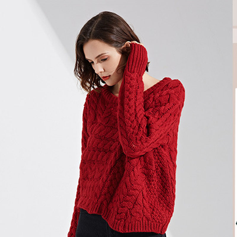 2018 new Loose sweater women irregular sweater autumn fashion Long sleeves Pullovers Round neck knitted sweater clothing ll724