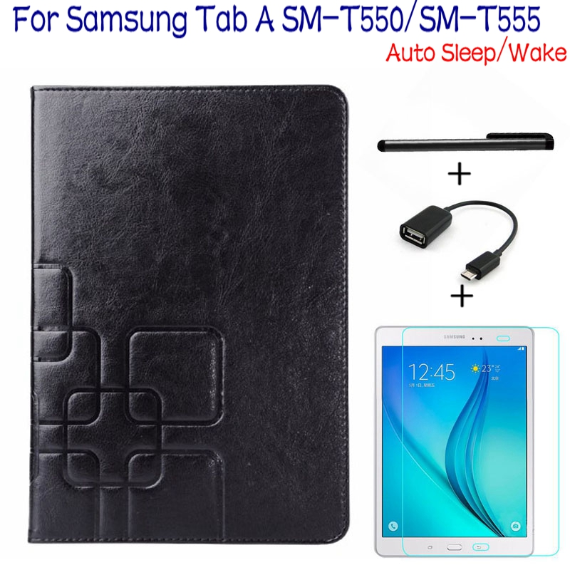 4 in 1 Luxury Stand Smart PU Leather Case Cover for Samsung Galaxy Tab A 9