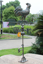 European Vintage Home Garden Decor Large Rooster Design Cast Aluminium Wind Indicator