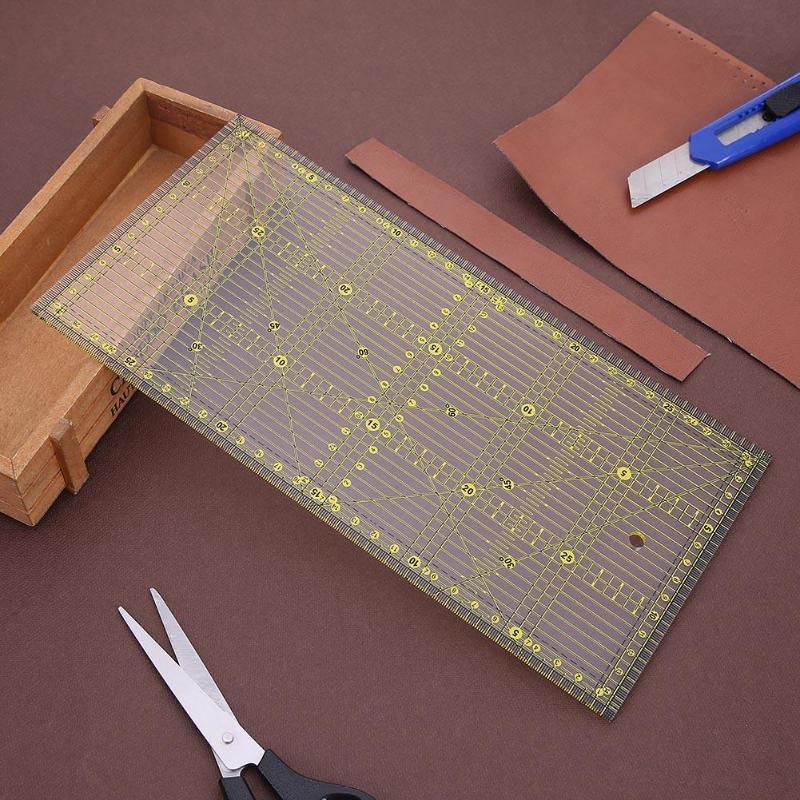 30*15cm Cutting Ruler Multi-purpose Patchwork Cloth Quilt Ruler DIY Garment Design Drawing Cutting Craft Ruler Sewing Mat цена