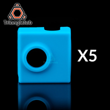 trianglelab 5pcs high quality cartridge CR10 heater bock silicone socks for MK9 heated block hotend I3 nozzle