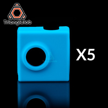 trianglelab 5pcs high quality cartridge CR10 heater bock silicone socks socks for MK9 heated block for MK9 hotend I3 CR10 nozzle 1pc blue pink black mk7 mk8 mk9 silicone socks for ender creality cr 10 anet reprap tronxy x5s silicone heater block cover