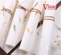 Papel de caligrafia tradicional chinesa xuan zhi  papel de mosaico de flores e folhas de pintura