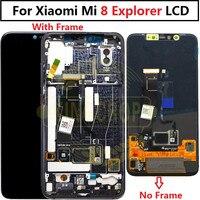 Супер Amoled ЖК экран для Xiaomi mi 8 проводник ЖК дисплей дигитайзер сенсорный экран с рамкой Xiaomi mi 8 pro lcd mi 8 Explorer