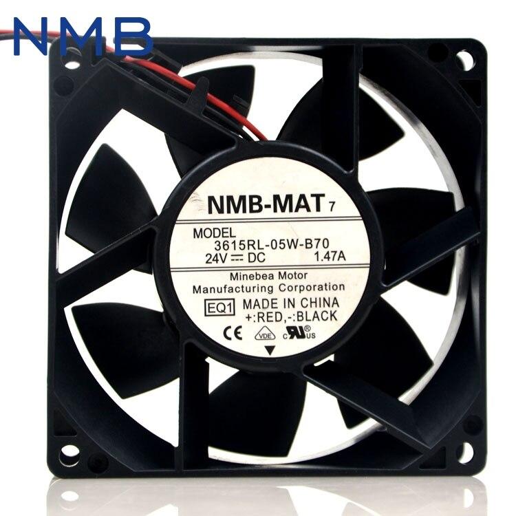 1pcs 3615RL-05W-B70 -E00 DC Brushless fan 24VDC 1.47A 9238 90mm 9cm 7200RPM недорго, оригинальная цена