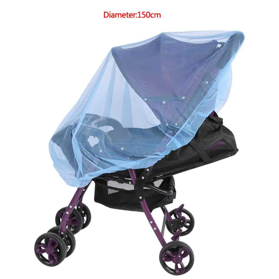 150cm Infants Baby Stroller Pushchair Cart Mosquito Insect Net Safe Mesh Buggy Crib Netting Baby Car Mosquito Mesh Buggy Cover