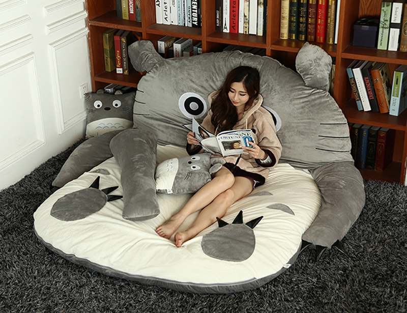 Outstanding Us 129 9 Japanese Anime Totoro Plush Beanbag Cartoon Cat Bed Tatami Mattress Cute Children Sleeping Bag For Adults And Kids T In Movies Tv From Inzonedesignstudio Interior Chair Design Inzonedesignstudiocom