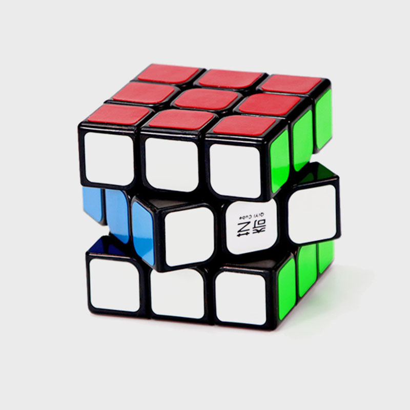 QIYI Magic Cubes Professional 3x3x3 5.6CM Sticker Speed Twist Puzzle Toys for Children Gift Rubiks Cube Magic ruler kid toys