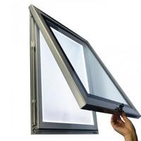Custom SIngles Side Weatherproof Lockable Outdoor Aluminum Frame Led Light Pockets 30x150cm