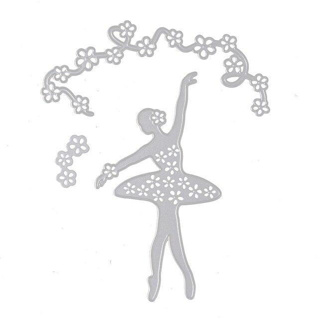 3PCS Dance Girl New Carbon Steel Frame Cutting Dies DIY Scrapbooking ...
