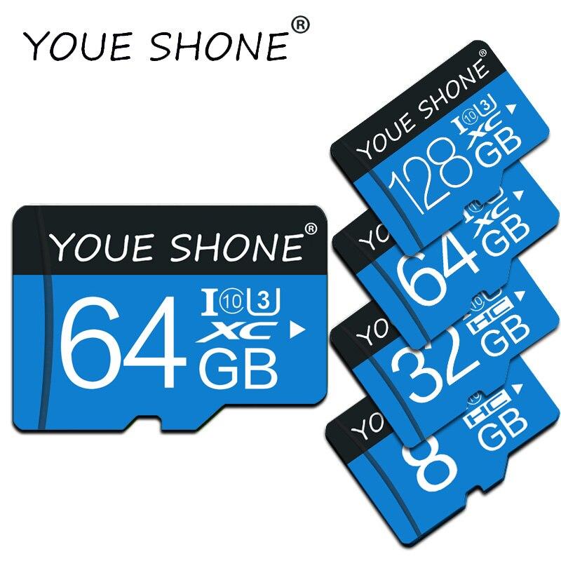 C10 microsd карта памяти, 32 ГБ, 16 ГБ, 64 ГБ, 128 ГБ, 8 ГБ, 4 Гб
