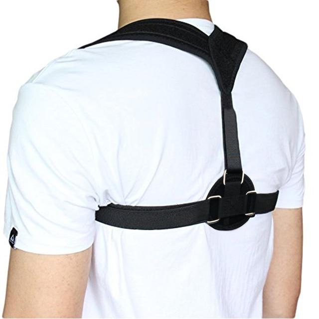 Corrector de postura de la espalda ajustable clavícula soporte de la correa de  la espalda flexible 5f554c5bbffc