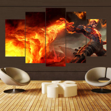 Painting Canvas Wall Art 5 Piece For HD Print Game League of Legends Living Room