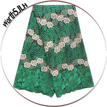 High Quality Nigerian Tulle Lace Material Green Peach Wine French Net Lace Fabric African Nigeria Lace Fabric 2018 With Stones(China)