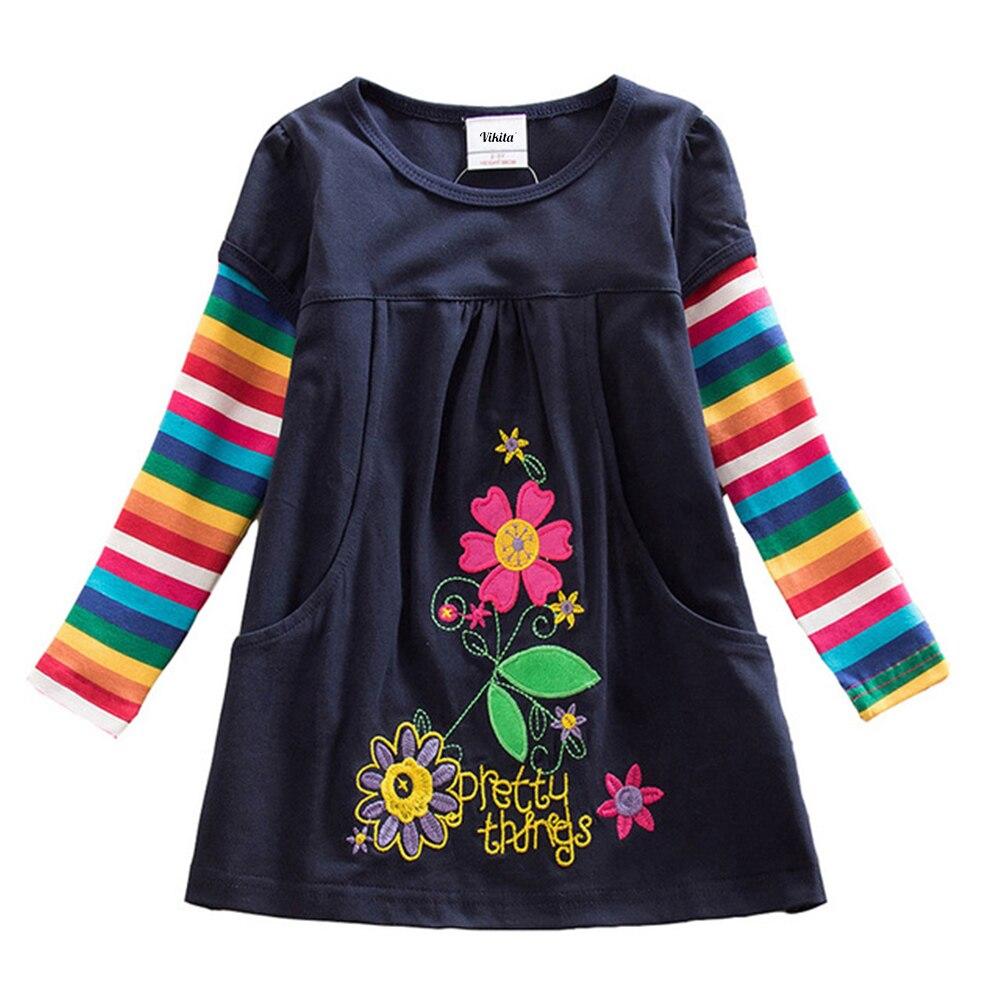 HTB1jRBoQAzoK1RjSZFlq6yi4VXay VIKITA Girls Dress Long Sleeve Kids Flower Dresses Children Unicorn Vestidos 2019 Girls Dresses Autumn Kids Dress For Girl