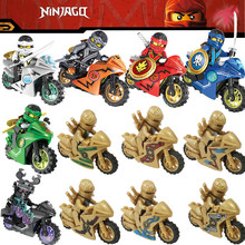 Single sale Legoing Ninjago Motos Figure Blocks Toy Sensei Wu Lloyd Gamma Dang Locomotive Ninja Model Legoings Figures Toys Gift(China)