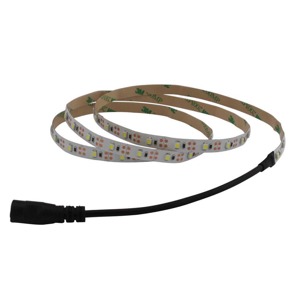 светодиодная лента на батарейках лента светодиодный Батарея работает 50 см 1 м 2 м 3 м клейкая лента огни SMD3528 светодиодные ленты e теплый холодный белый