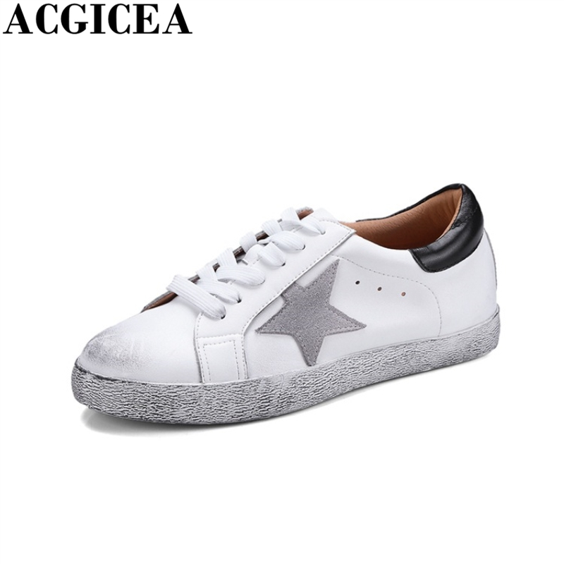 Italy Design Genuine Leather Women Shoes Fashion Golden Do Old Dirty Shoes Female Worn Goose Star Casual Shoes Scarpe Donna Uomo женские кеды golden goose shoes 2015 ggdb uomo scarpe scollate