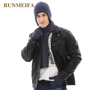Image 4 - 2018 New arrival product Mens  winter warm Hat&scarf&Touchscreen gloves  Gifts in stock
